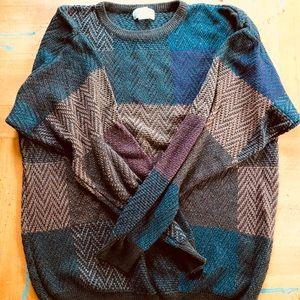90s Preppy Hipster Oversized Grandpa Sweater